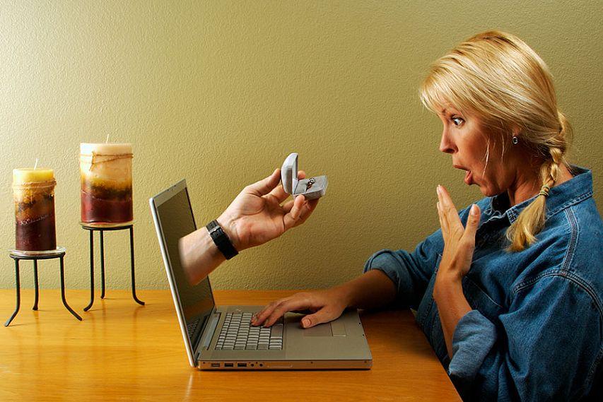 Виртуальное знакомство и свадьба